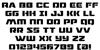 Drone Tracker Font Letters Charmap