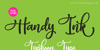 Handy Ink - Personal Use Font poster