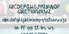 Betty Jane Light Font text handwriting