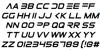 Elemental End Italic Font Letters Charmap