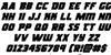Rogue Hero Italic Font Letters Charmap