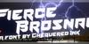 Fierce Brosnan Font sign
