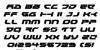 Royal Samurai Italic Font Letters Charmap