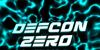 Defcon Zero Font screenshot electric blue