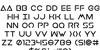 Earth Orbiter Bold Font Letters Charmap