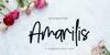 Amarilis Script Font handwriting flower