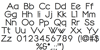 Dotline Heavy Font Letters Charmap