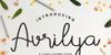 Avrilya Font handwriting