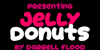Jelly Donuts Font poster graphic
