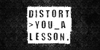Distort You A Lesson Font tree handwriting