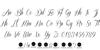 Sverige Script Demo Font Letters Charmap