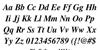 Free Serif Bold Italic Font Letters Charmap
