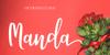 Manda Font flower design