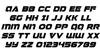 Jeebra Italic Font Letters Charmap