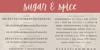 Sugar & Spice Font text screenshot