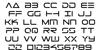 Tele-Marines Font Letters Charmap