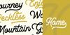 LesleyDemo Font design text