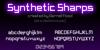 Synthetic Sharps Font screenshot text
