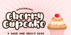 Cherry Cupcake Personal Use Font poster