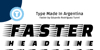 Faster One Font poster black-and-white