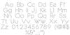 Dotline Font Letters Charmap
