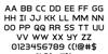 Inter-Bureau Font Letters Charmap