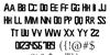 Power Rangers 2019 Font Letters Charmap