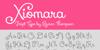 Xiomara Font text design