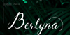 Berlyna Demo Font poster