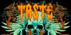 Taste death Font cartoon text