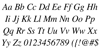 Free Serif Italic Font Letters Charmap