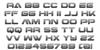 Hyper Viper Gradient Font Letters Charmap