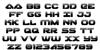 Skyhawk Halftone Font Letters Charmap