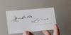 Allexandia Font handwriting letter