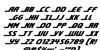 Shining Herald Italic Font Letters Charmap