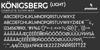 Königsberg Font screenshot design