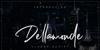 Dellamonde Font poster handwriting