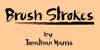 Brush Strokes Font handwriting typography