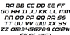 Federal Service Italic Font Letters Charmap