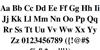 Free Serif Bold Font Letters Charmap