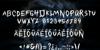 Dreams of Death Font handwriting text