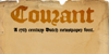 DK Courant Font handwriting typography