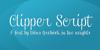 Clipper Script Font design typography