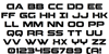 Beam Weapon Font Letters Charmap
