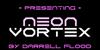 Neon Vortex Font screenshot design