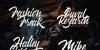 Wakanda Font design blackboard