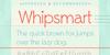 Whipsmart Font text screenshot