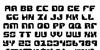 Replicant Font Letters Charmap