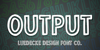 Output Font screenshot font