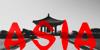 Ninja Demo Font red vector graphics